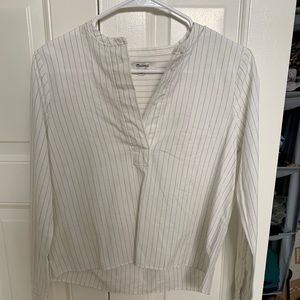 Madewell striped long sleeve shirt - XXS